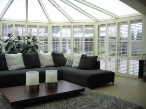 wooden shutters, conservatory